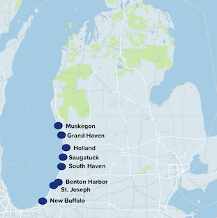 Western Michigan Beach Towns