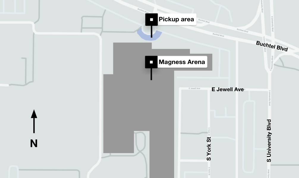 Magness Arena pickup area