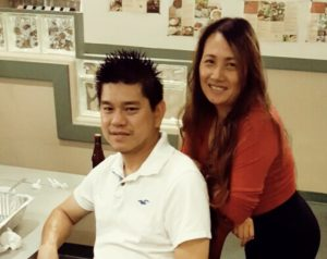 Monica Kea of Thai Time 3 in San Diego, and her husband
