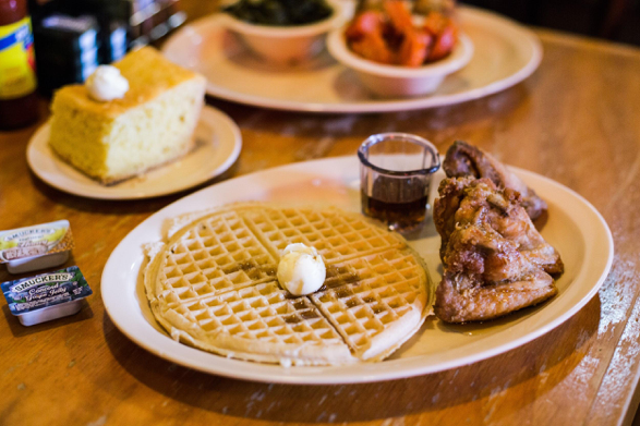 Go behind the kitchen at Roscoe's Chicken and Waffles