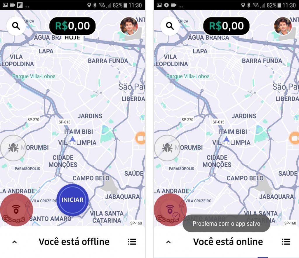 compartilhamento localização app novo