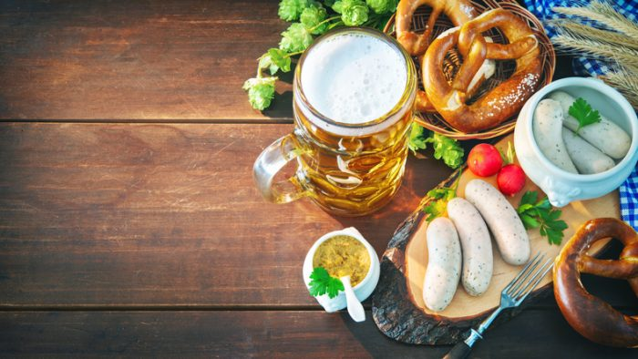 Comida típica alemã Oktoberfest