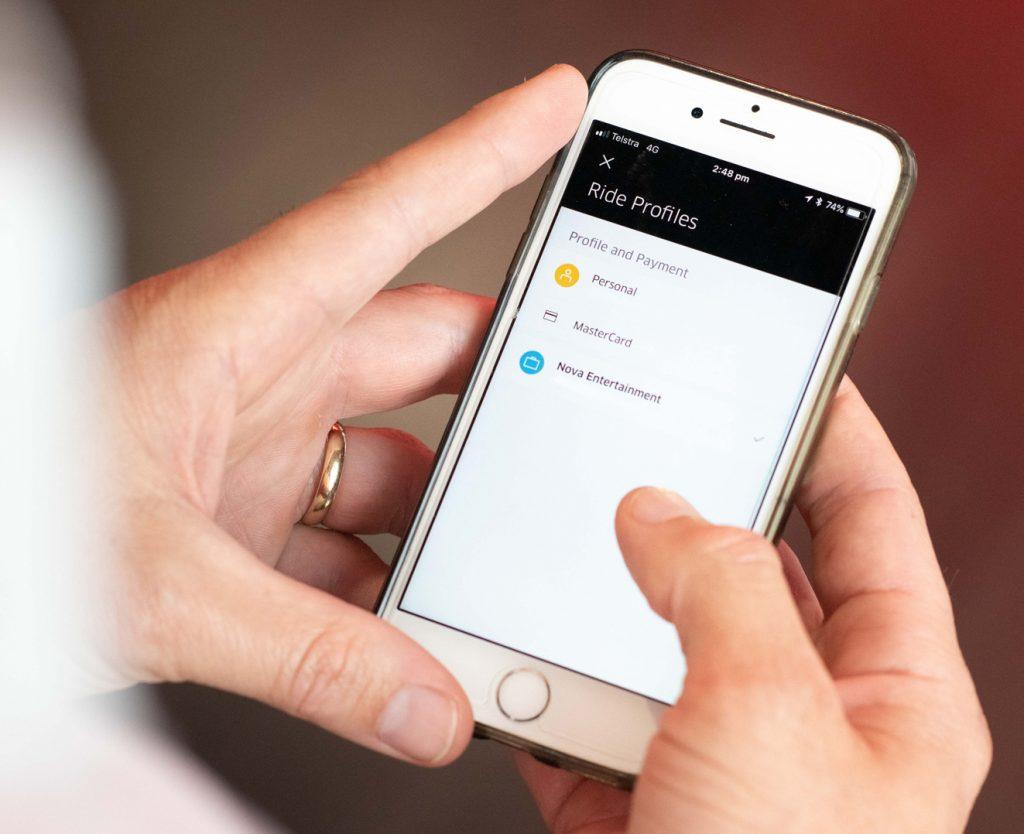Switching profiles is easy with Uber for Business.