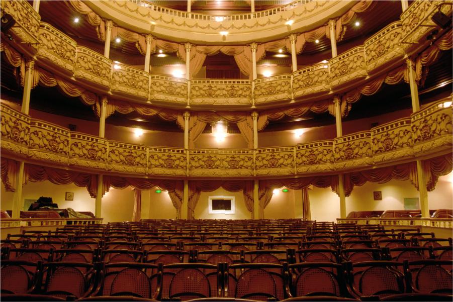 Interior del Teatro Abril en la Ciudad de Guatemala