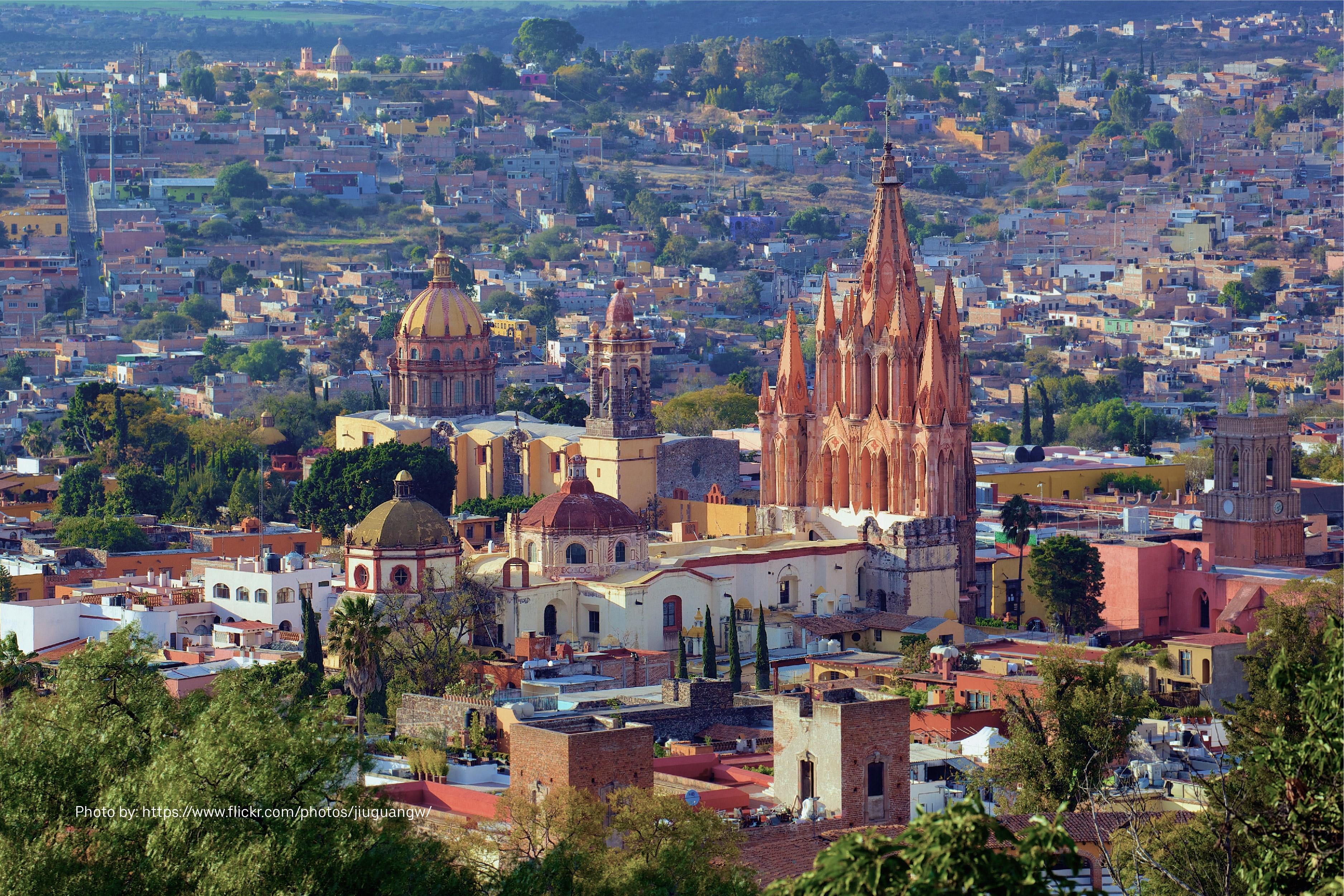 Vista de la Plaza Principal de San Miguel de Allende