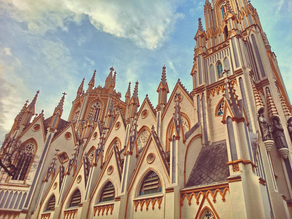 Exterior da Igreja Nossa Senhora de Lourdes, Belo Horizonte