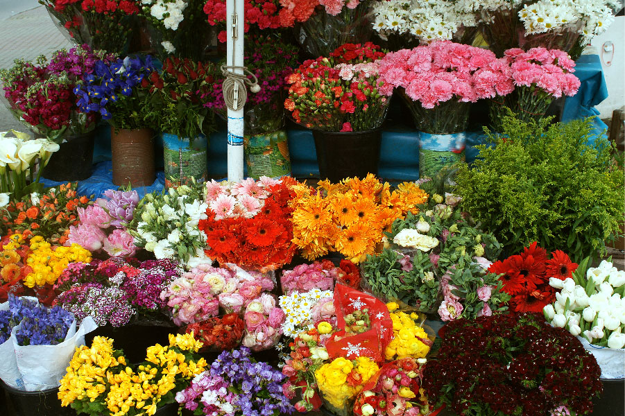 Flores en el Mercado Central de Quito