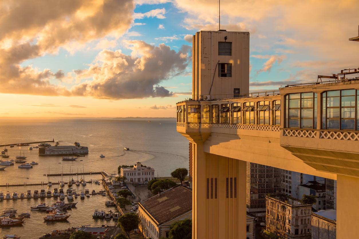 Vista do Elevador Lacerda em Salvador