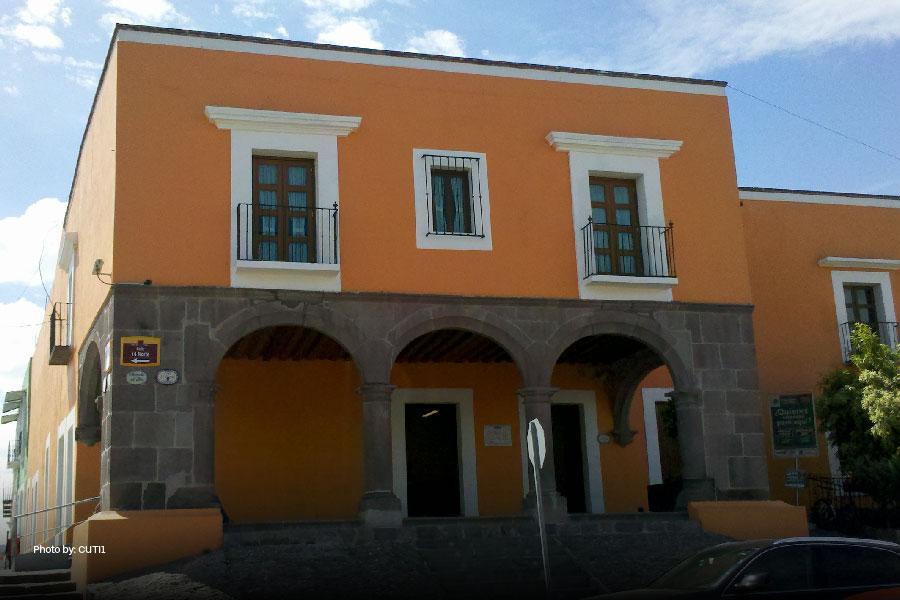 Edificio del barrio del Alto en Puebla