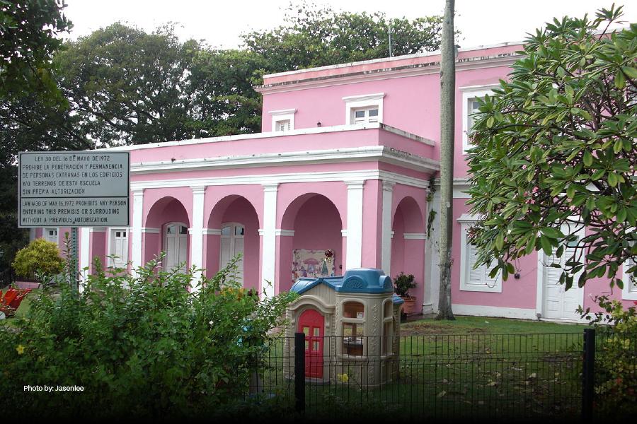Fachada de la Casa Rosada de Caguas