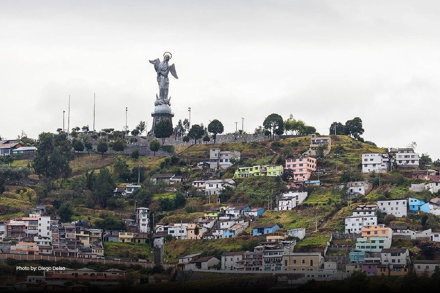 El Panecillo en Quito