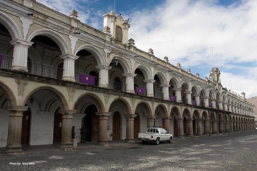 Fachada del Centro Cultural Real Palacio, Antigua Guatemala