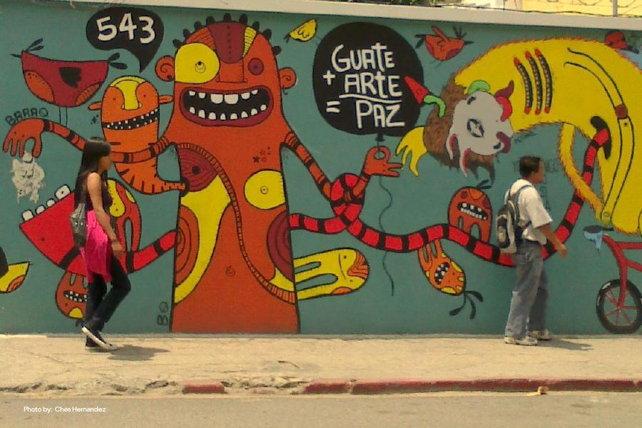 5a avenida y 9a calle graffiti