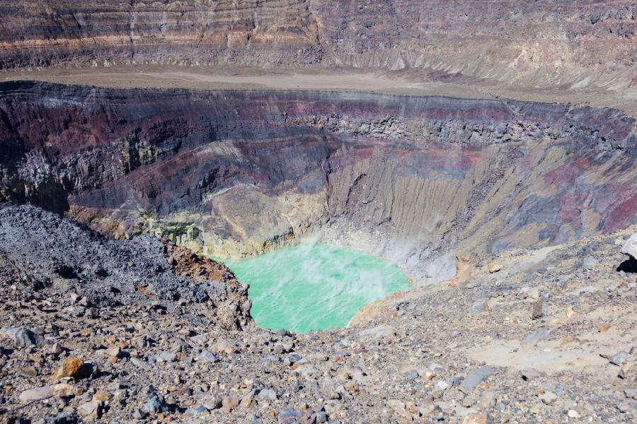 Crater del volcán, El Salvador
