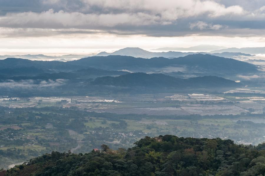 Vista desde el mirador del Valle del Cibao