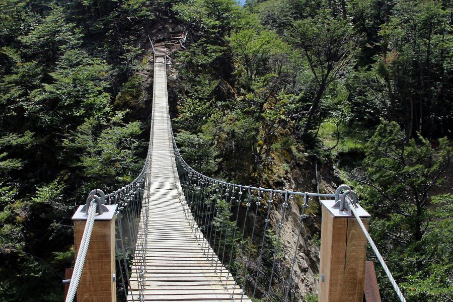 Un puente del Salto de Jimenoa