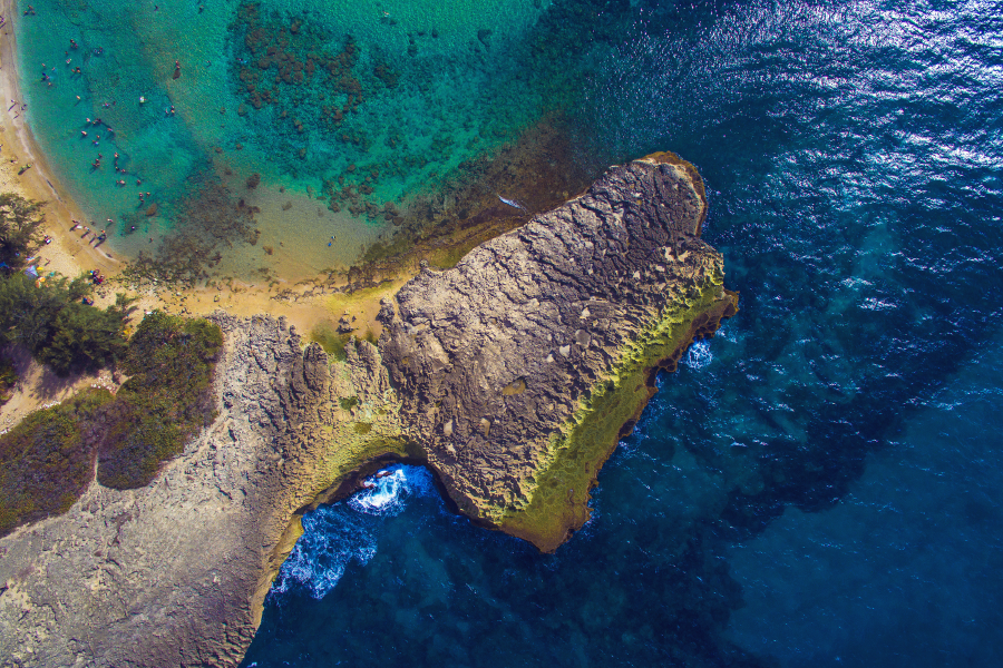 Foto aérea de Playa Jobos, Isabela