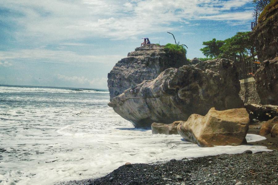 Una playa en El Salvador