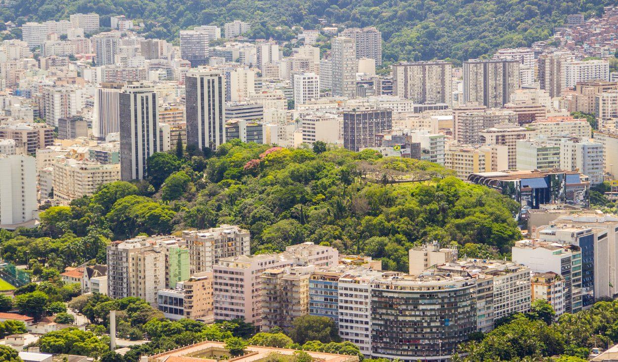 Foto aérea do bairro Flamengo no Rio de Janeiro