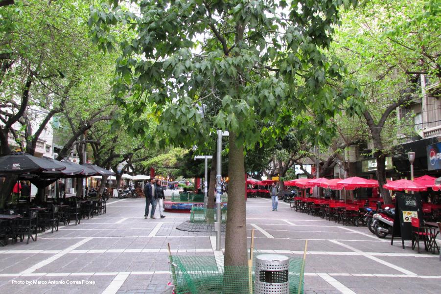 Peatonal Sarmiento en Mendoza