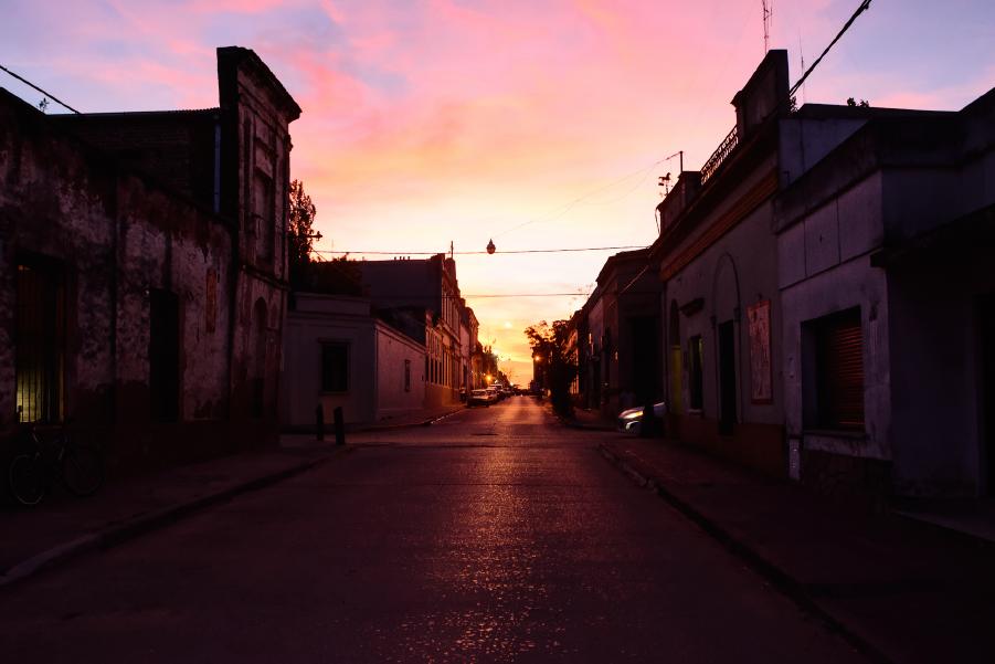 San Antonio de Areco al atardecer