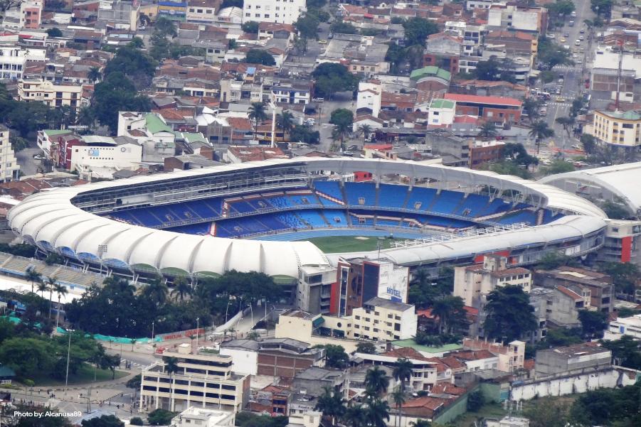 Vista aérea del estadio Pascual Guerrero