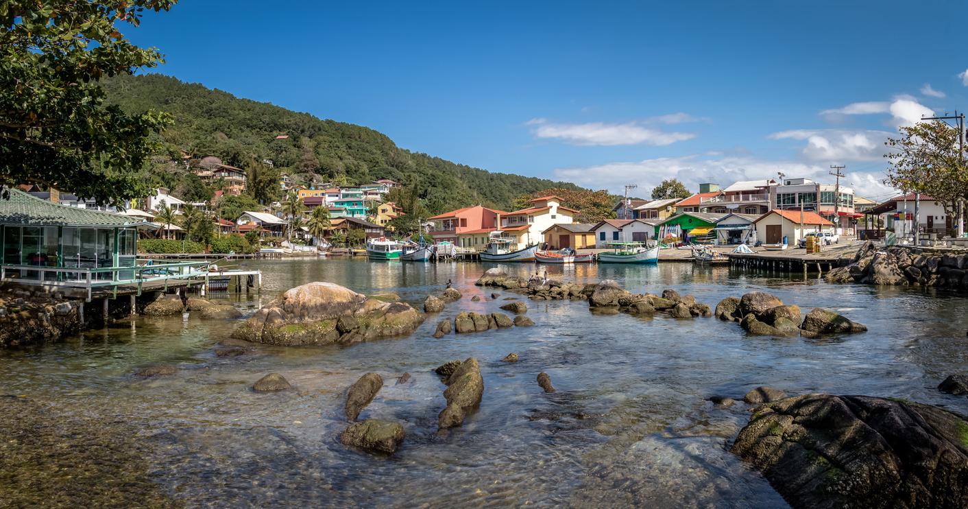 Lagoa da Conceição em Florianópolis, Brasil.