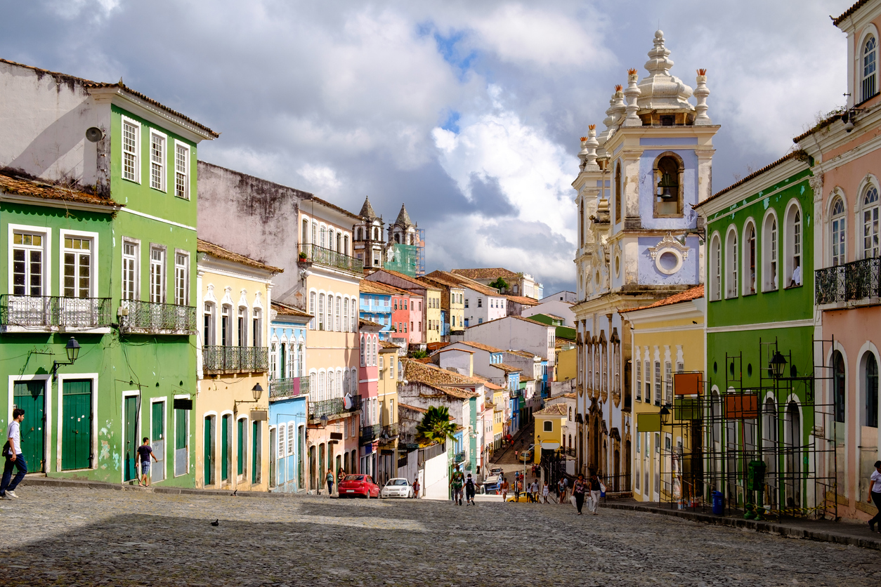 Largo do Pelourinho em Salvador, Brasil