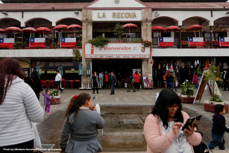 Fachada del mercado La Recova en La Serena