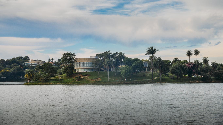 Vista do museu de arte da Pampulha em Belo Horizonte