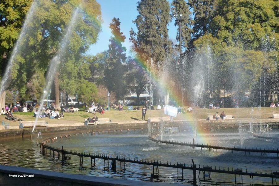 Fuente de la Plaza de la Independencia en Mendoza