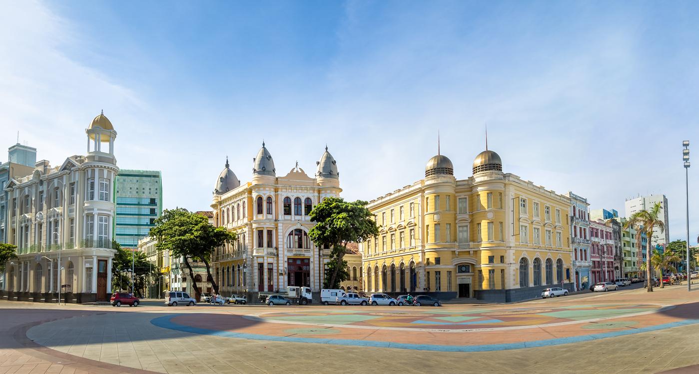 Edifícios que fazem parte do centro histórico da cidade de Recife