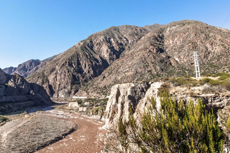 Vista de tambo incaico Ranchillos, lugar importante de Mendoza