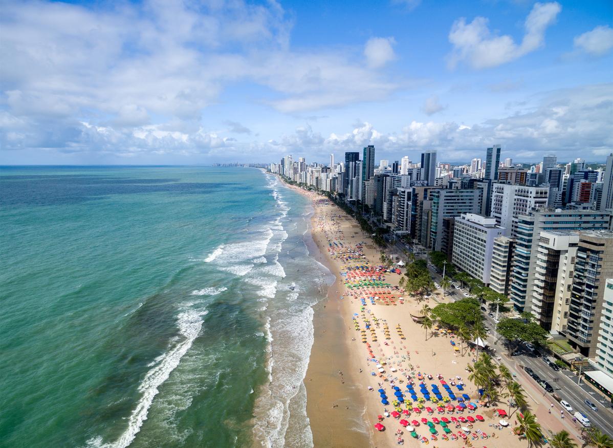 Foto aérea da praia de Boa Viagem
