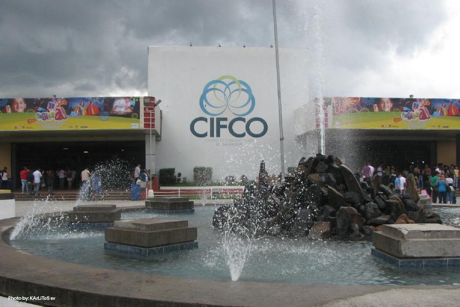 El Centro Internacional de Ferias y Convenciones durante las Fiestas Agostinas de El Salvador