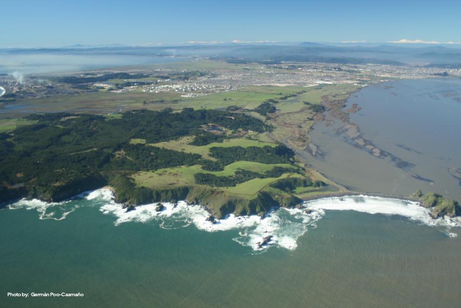 Vista desde la desembocadura del río Bío Bío, Concepción