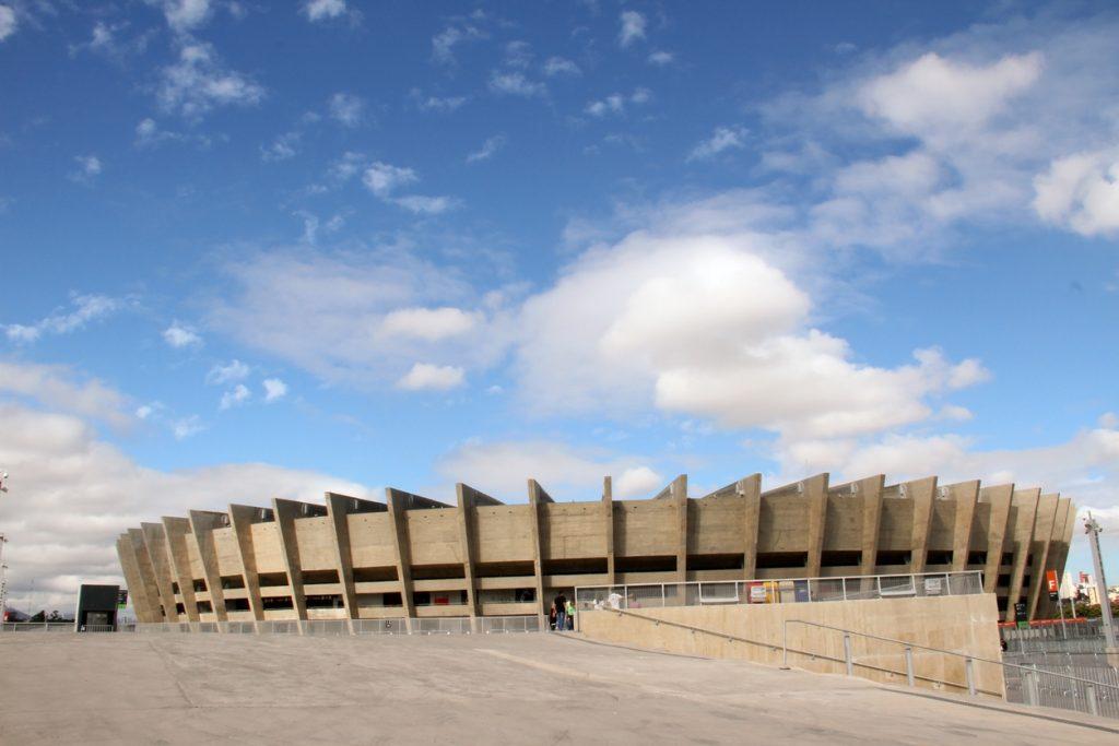 Vista do Estádio Mineirão em Belo Horizonte