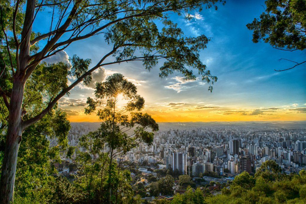 Vista de Belo Horizonte no Mirante da Mangabeiras