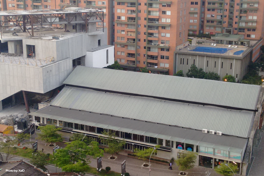 Una vista aérea del museo de arte moderno
