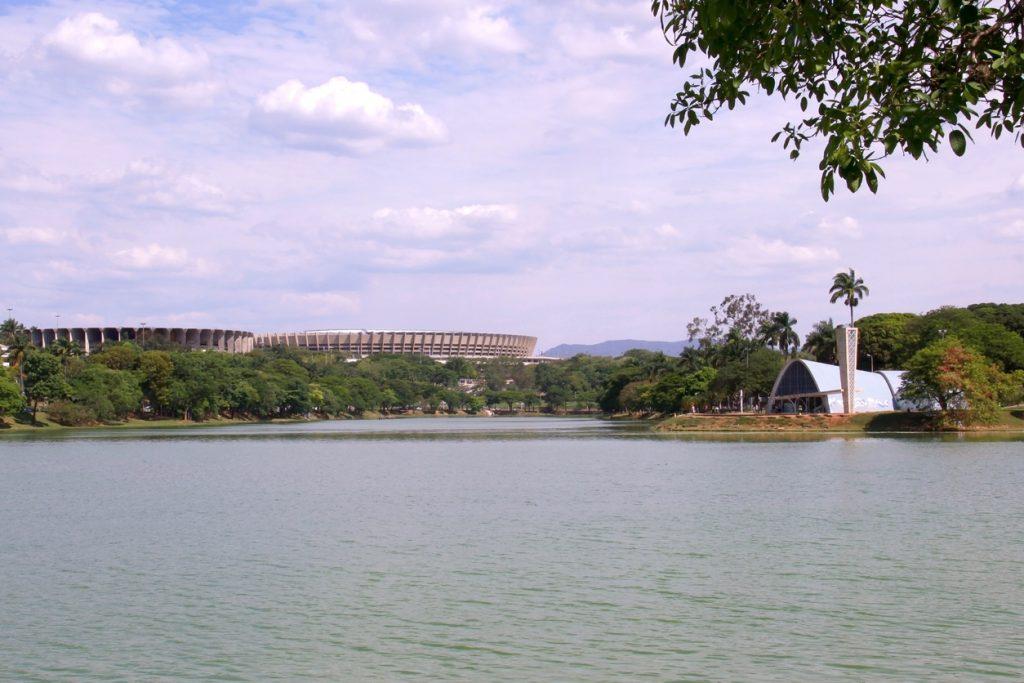 Vista da Lagoa da Pampulha, em Belo Horizonte