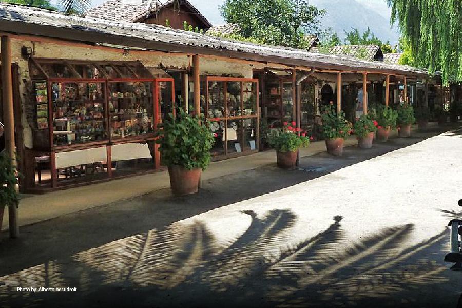 Puestos de artesanía en Los Dominicos