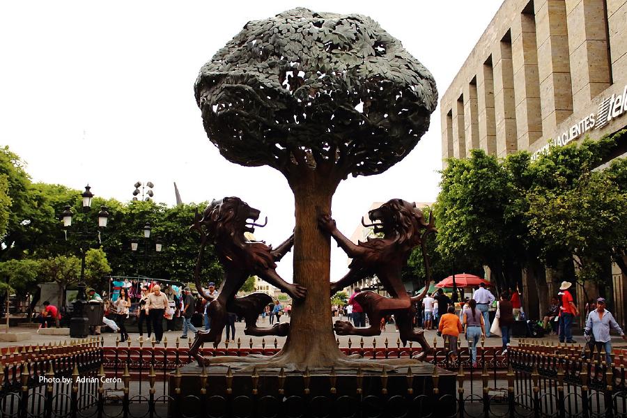 Escudo de Armas, monumento de Guadalajara